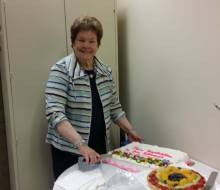 Elaine Craft  PI NSF Grants Retires from SCATE Center   Cake Cutting
